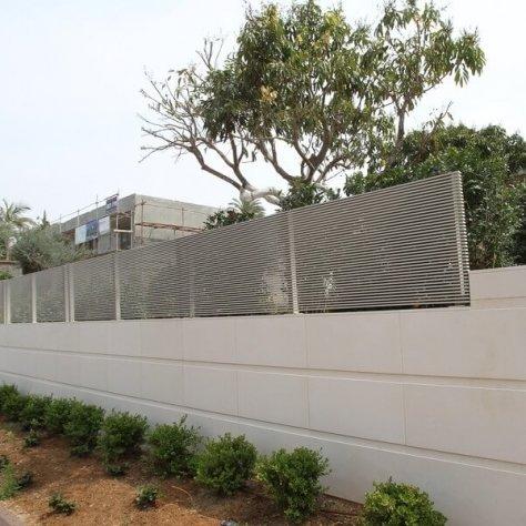גדר פרויקט בית פרטי