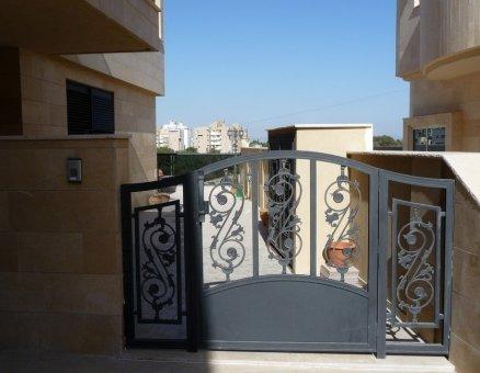 סנפיר שערים-שער חשמלי מעוטר